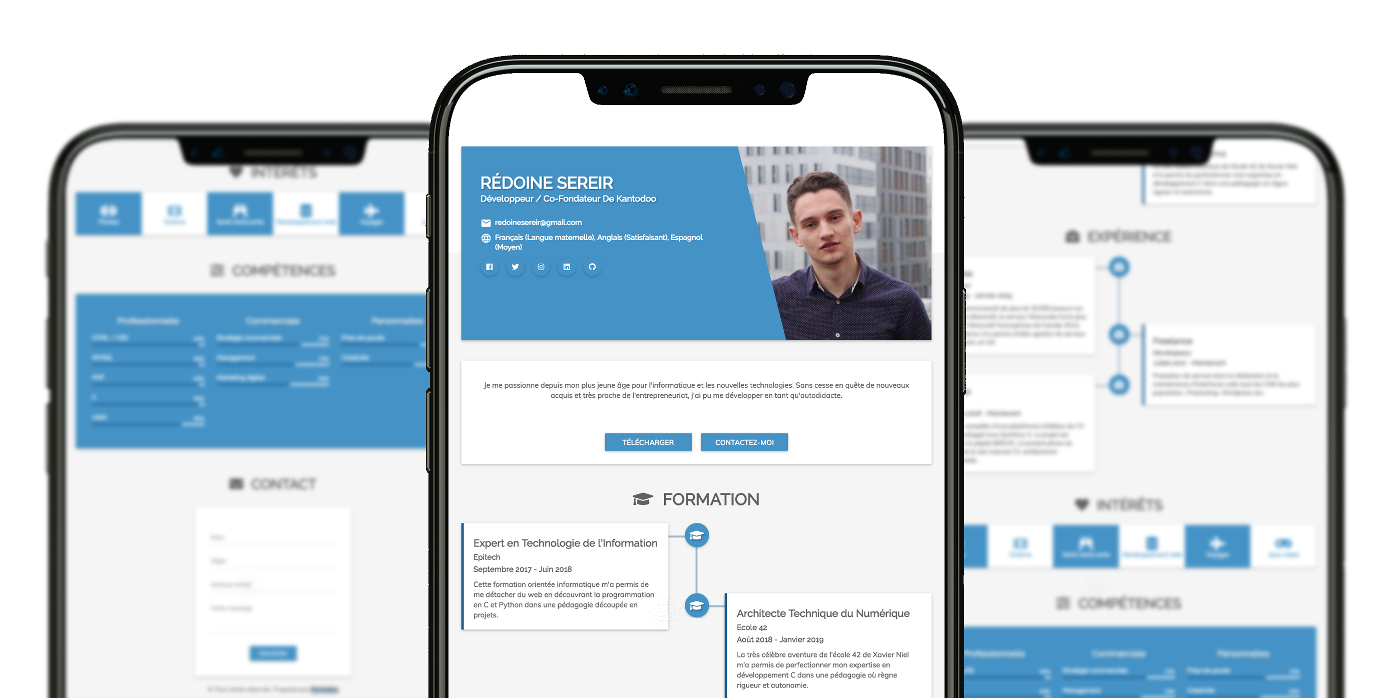 Curriculum vitae version mobile